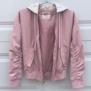 blush pink bomber jacket